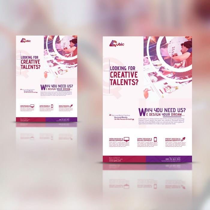 PSD Creative agency Flyer