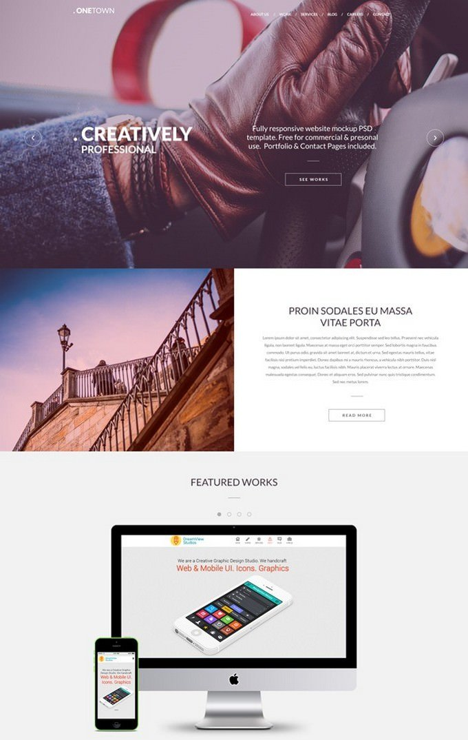 Responsive Website PSD Templates