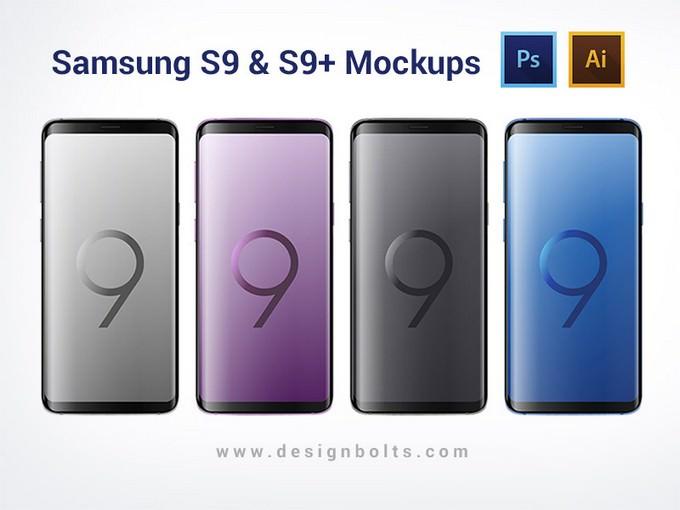 Free Samsung Galaxy S9 & S9+ Mockups (Ai, PSD)