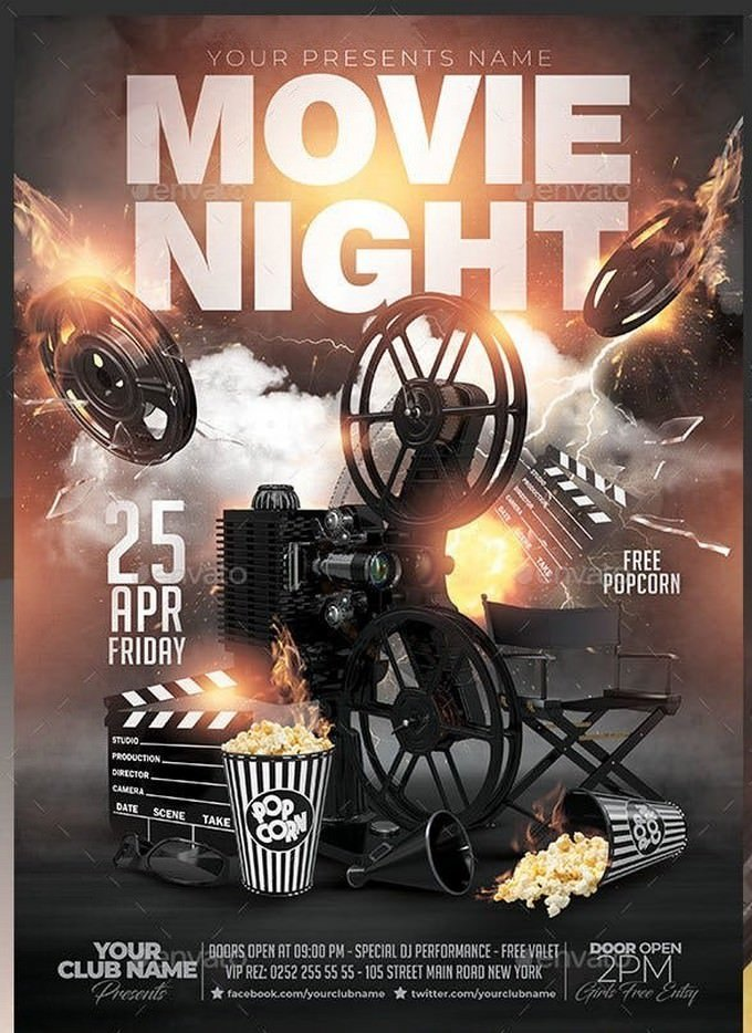 Friday Movie Night Flyer