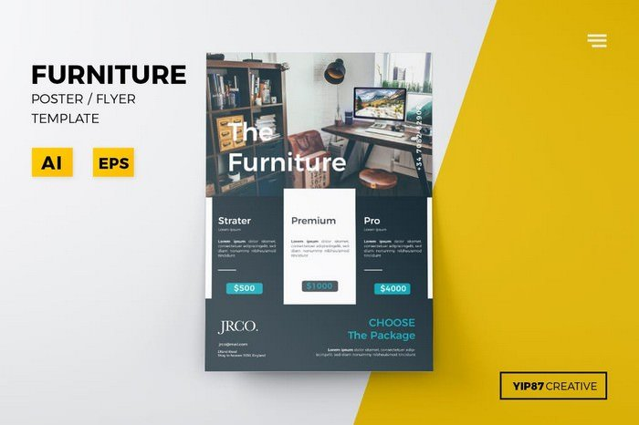 Furniture Business Flyer Template