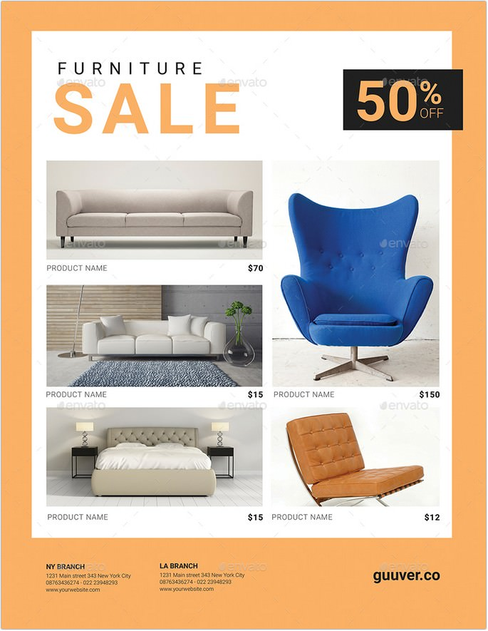 19 amazing furniture flyer templates 2018 templatefor
