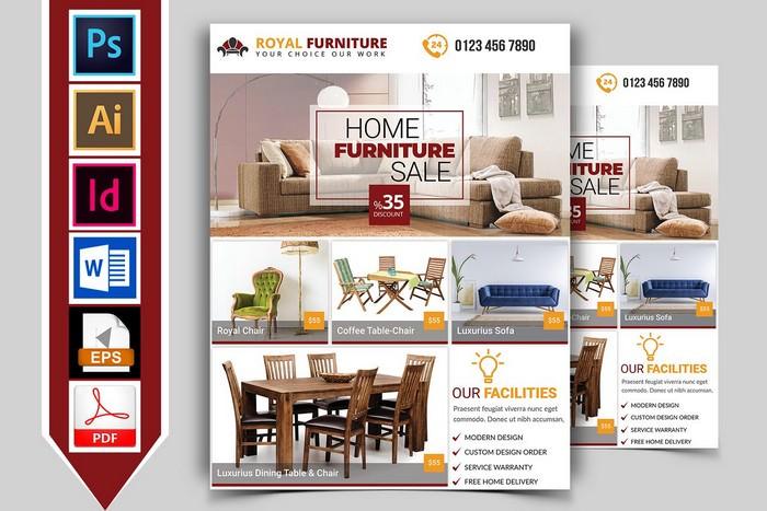 Furniture Shop Flyer Template Vol-02