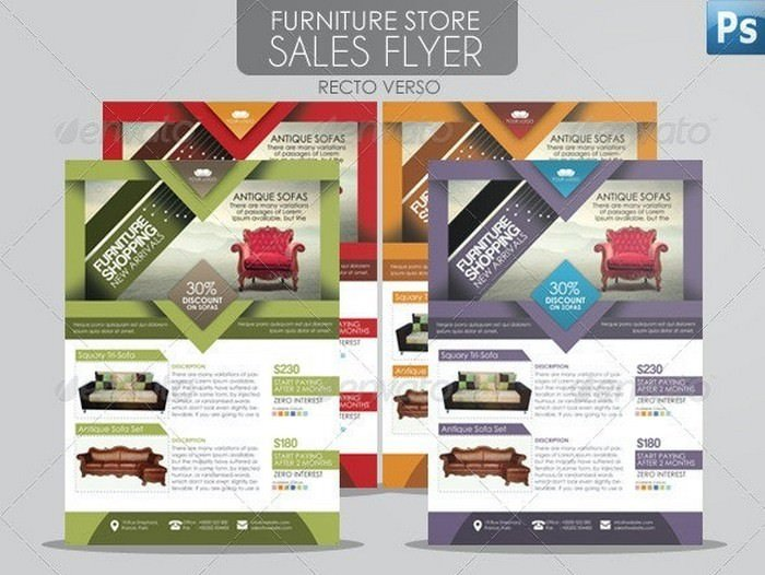 Furniture Store Sales Flyer
