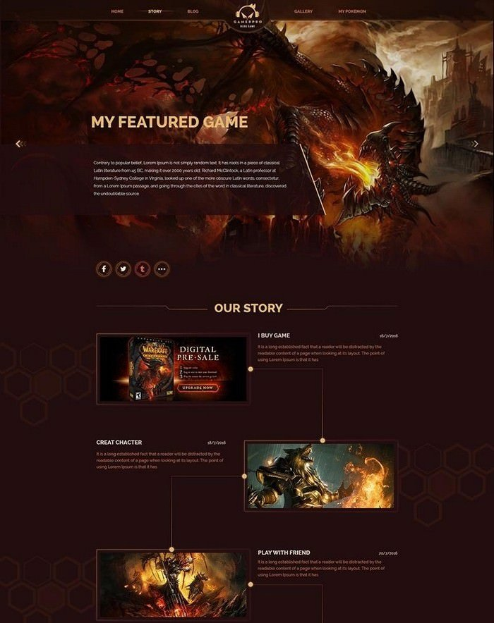 Gamepro - Fantastic Blog PSD Template for GAME SITES