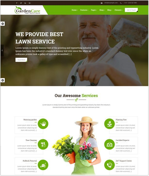Gardening For Flowers, Fruits, Vegetable Planting & Landscaping Website Template