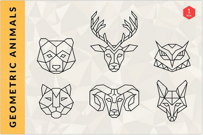 Geometric Animal Logos Design