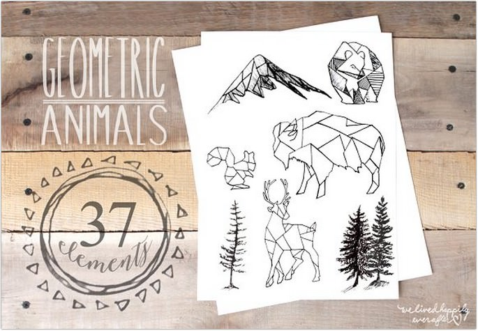 Geometric Animals Logo