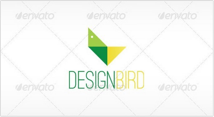 Geometric Bird Logo Design