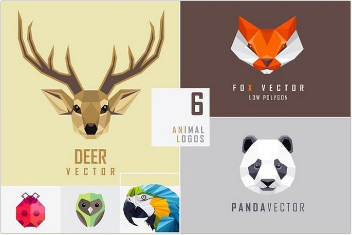 Geometric animal logo
