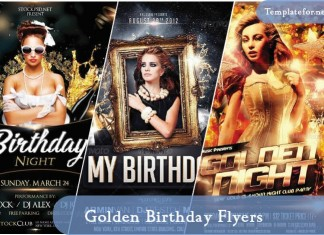 Golden Birthday Flyer