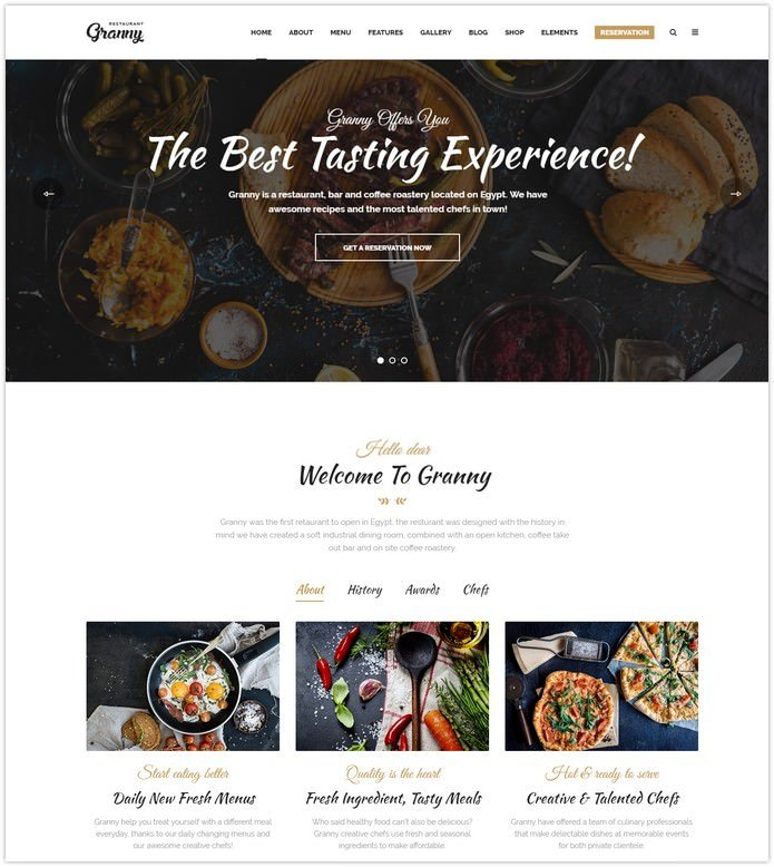 Elegant Restaurant & Cafe HTML Template