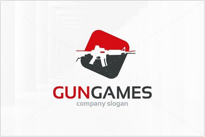 Gun Games Logo Design