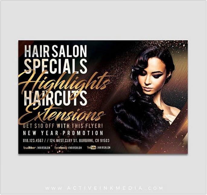 25 Best Hair Salon Flyer Templates 2018 Templatefor