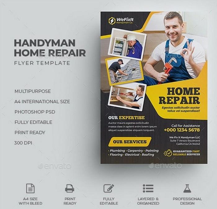 Handyman Home Repair Flyer