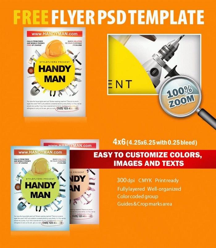 Handyman PSD Flyer Template