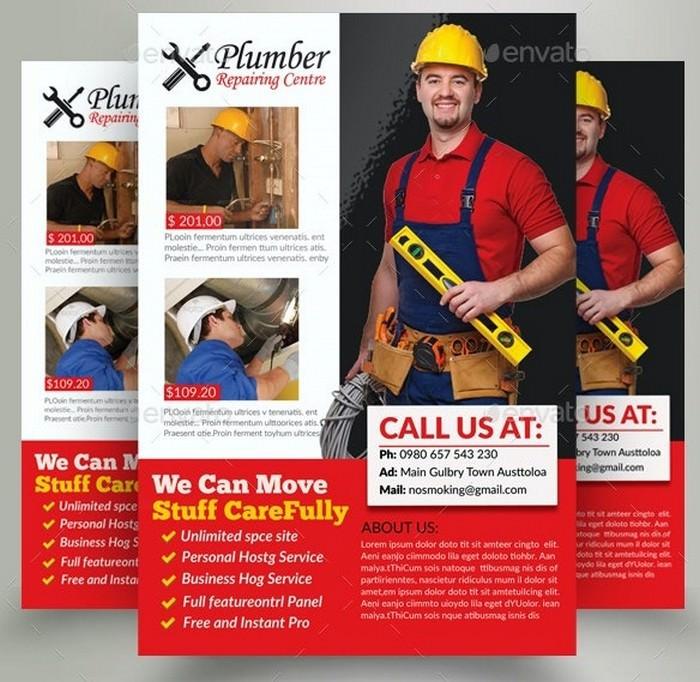 Handyman & Plumber Services Flyer # 2