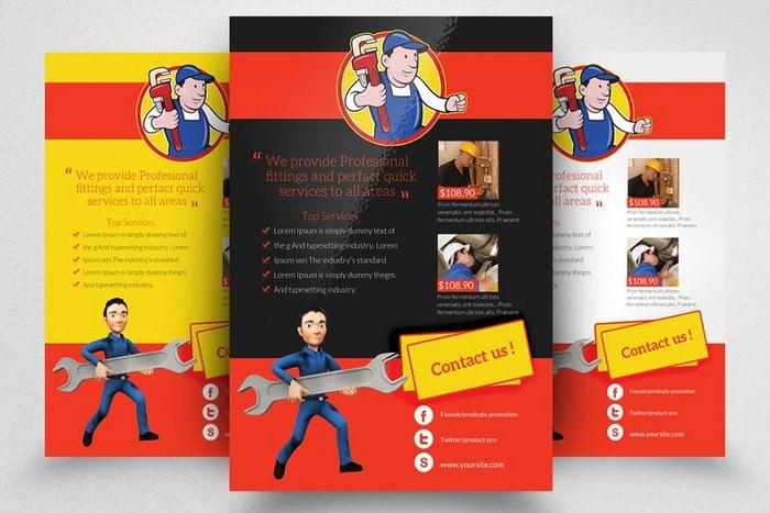 Handyman & Plumber Services Flyer PSD