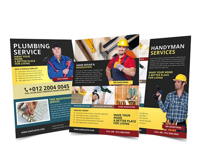 Handyman & Plumber Services Flyer Template
