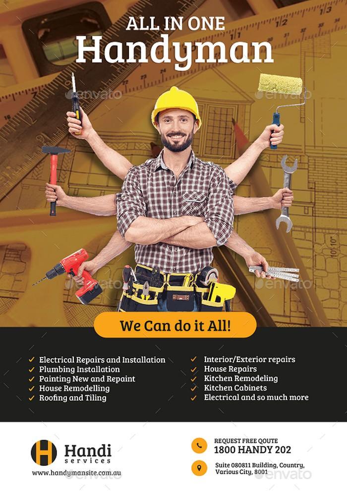 Handyman Promotional Flyer
