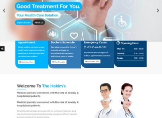 Hekim's Health Care & Medical Hospital HTML Template