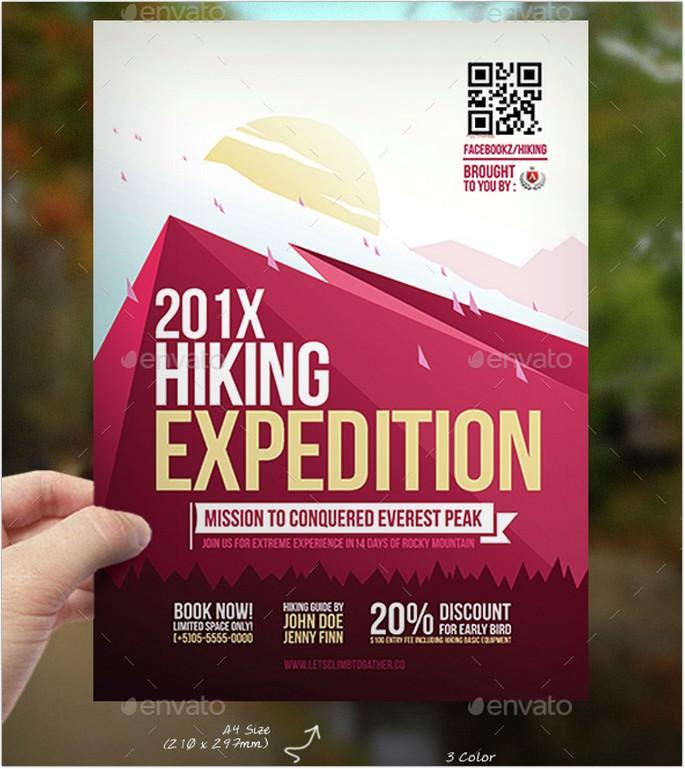 Hiking Adventure Flyer