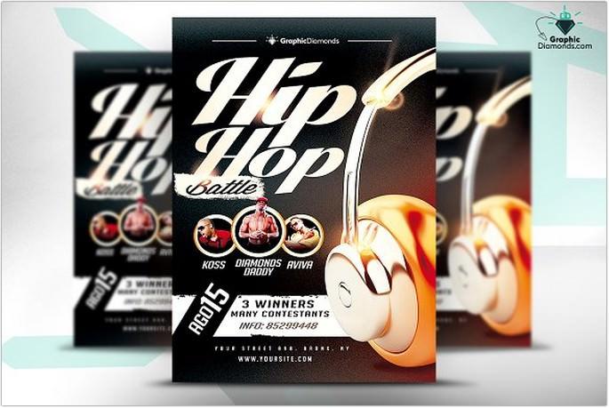 Hip Hop Battle Flyer PSD