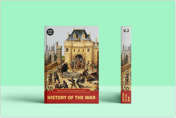 History and War Hard Cover Book MockUp