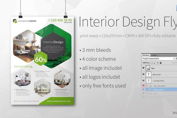 Intrior Design A4 flyer
