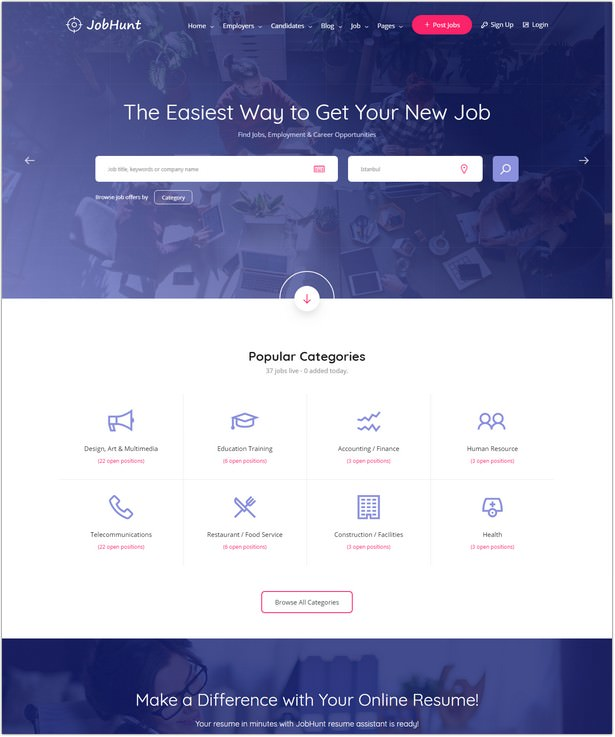 Job Board HTML Template