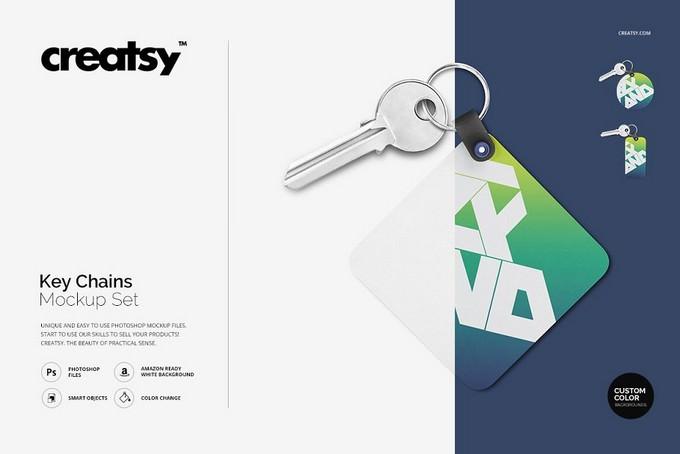 Key Chains Mockup