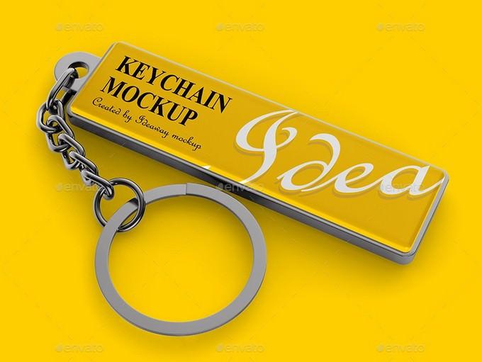Keychain Mockup Template