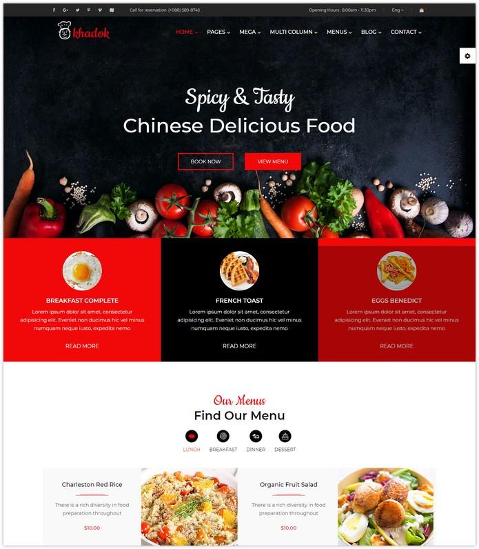Restaurant Responsive HTML5 Template