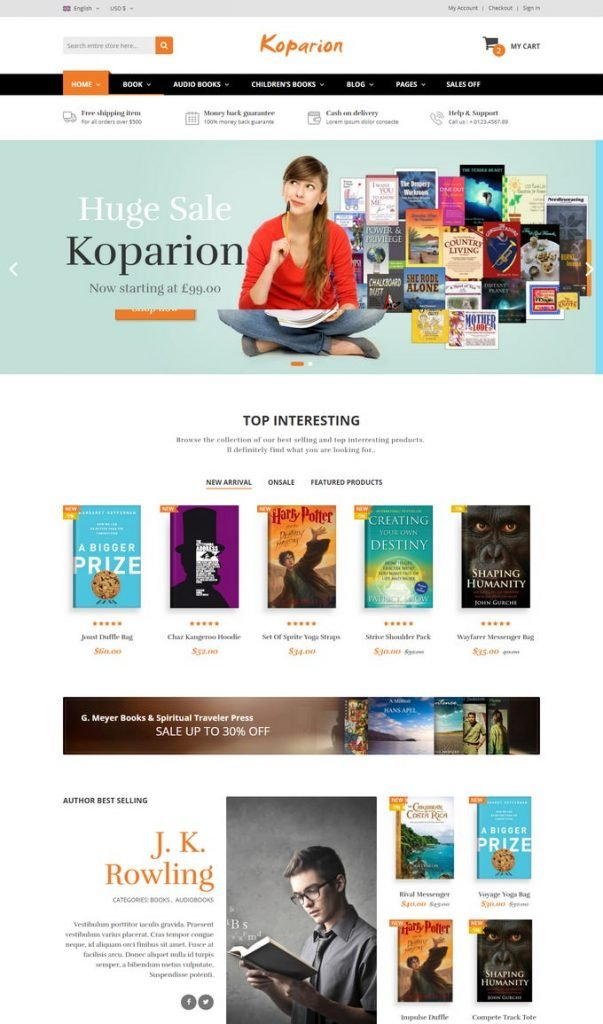 Koparion – Book Shop HTML5 Template