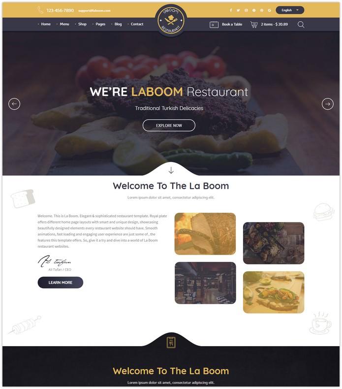 La Boom - Food & Restaurant Bistro HTML Template