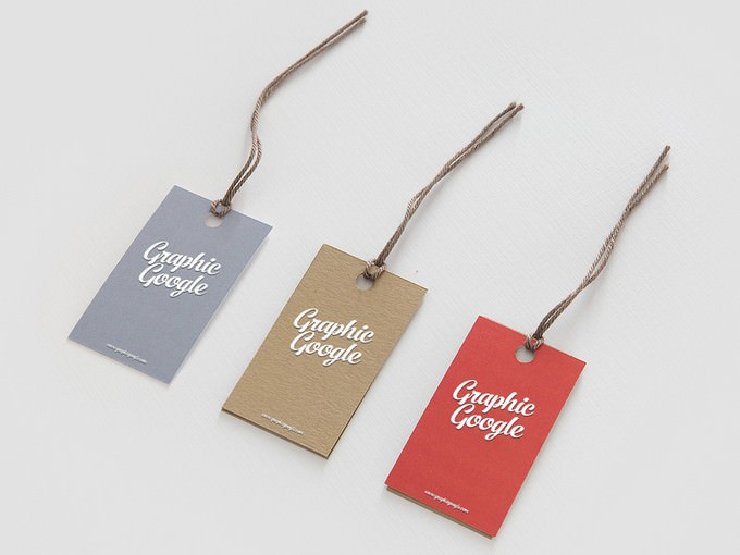 Label Hang Tag Logo Mock-up Free