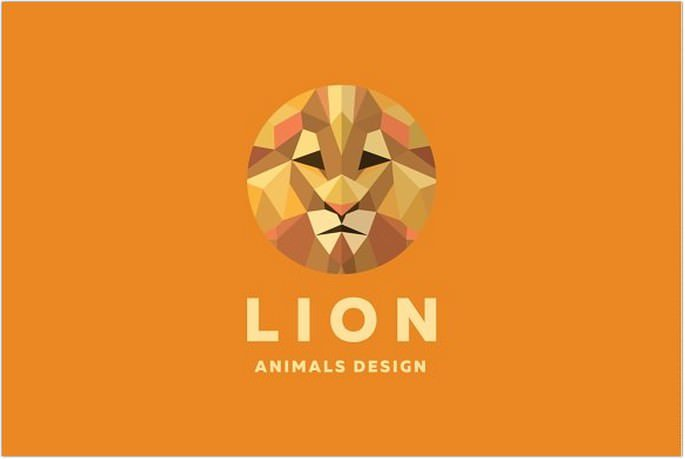 Lion Polygons Animal Design