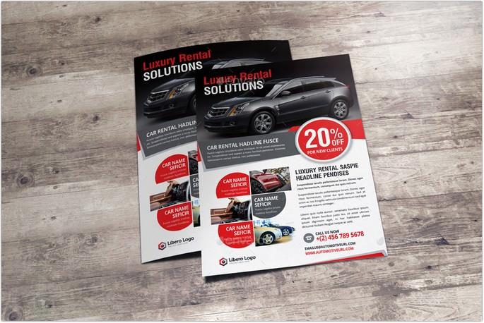 Luxury Car Rental Flyer Ad Design
