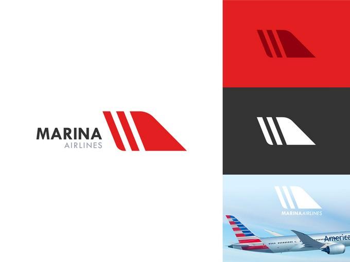Marina Airlines Logo Work