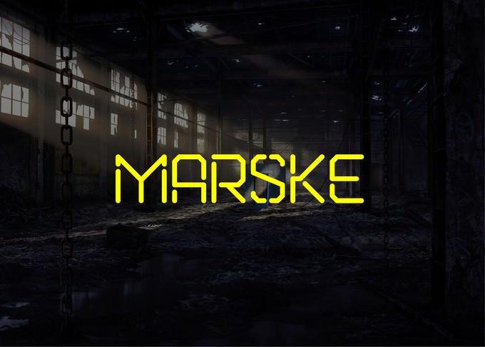Marske Free Stencil Font