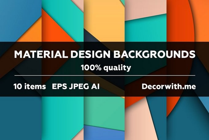 Material Design Backgrounds Set