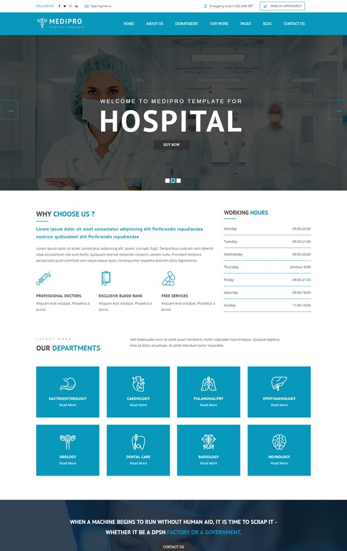 MediPro - Health & Medical HTML5 Responsive Template