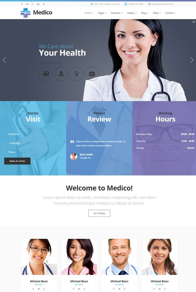 Medico - Medical&Veterinary HTML Template with Builder