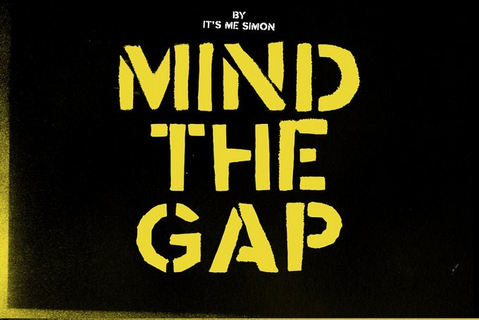 Mind The Gap Stencil Font