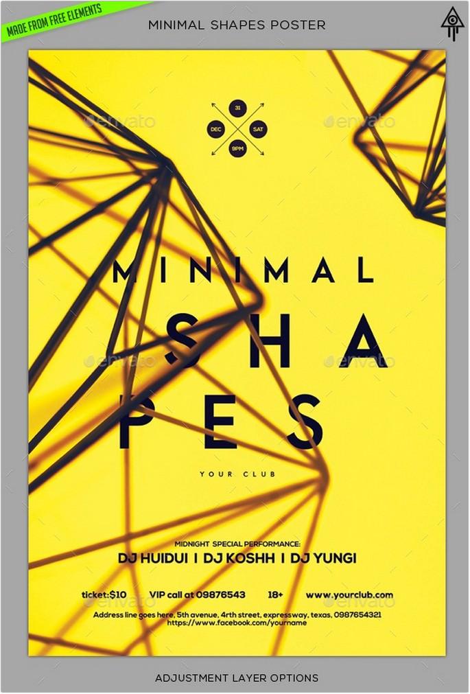 Minimal Shapes Poster