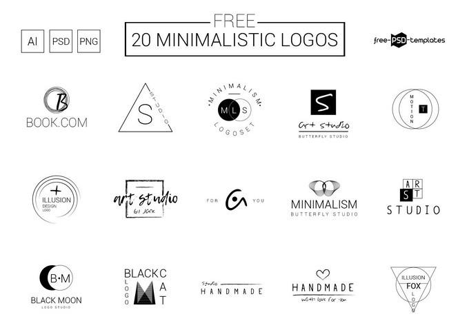 Minimalistic Vector Logos