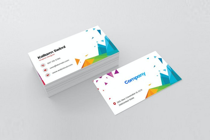 Modern Visiting Card For Graphic Designer