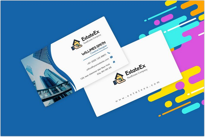 Visiting Card Template RealEstate Agent
