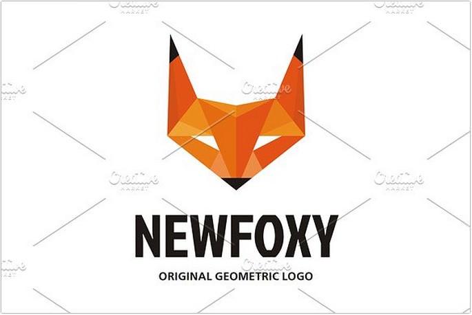 NewFoxy Geometric Style Logo