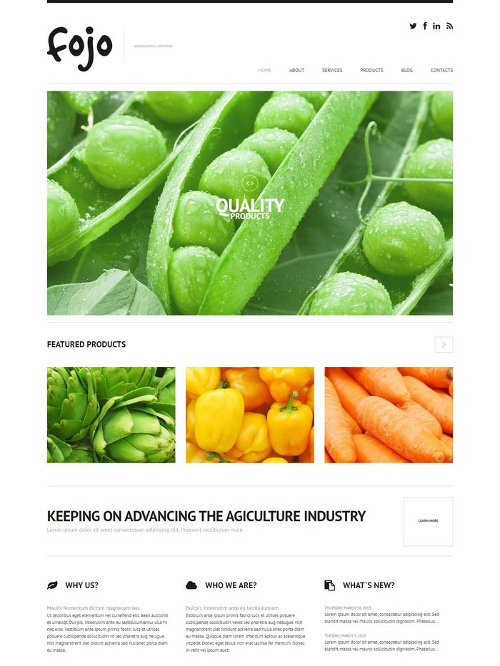 Organic Farming WordPress Theme